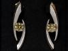 Grossular Garnet and Diamond Earrings