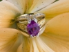 HOT Pink Sapphire and Diamond Ring