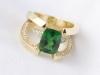 Tsavorite and Diamond Ring