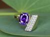 Natural Purple Sapphire and Diamond Ring